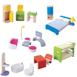 Plan Toys Dollhouse Furniture Sets